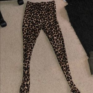 Leggins bundle.  Army green, leopard, and burgundy